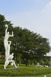 广州新体育馆 投篮运动员雕塑