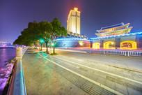 惠州朝京门及东江江滨风景