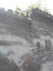 老北京城墙一角