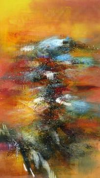 玄关装饰画抽象油画