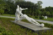 运动员石雕