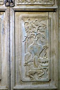 回族木门传统木雕画