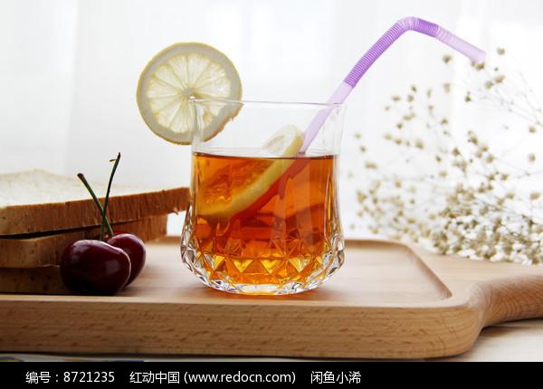 柠檬红茶摄影图片图片