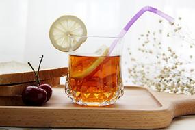 柠檬红茶摄影图片