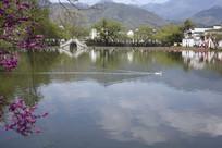 宏村南湖玉带桥
