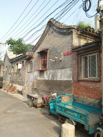 老北京打么厂三里河住宅区