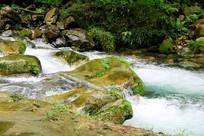 峡谷小溪水