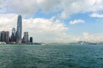 香港中环维港建筑风光