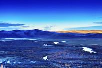 额尔古纳湿地秋季日出