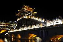 凤凰城吊脚楼夜景