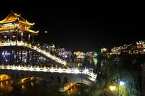 凤凰城古建筑夜景