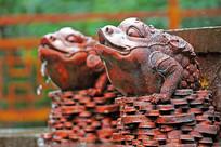 金钱蛙雕刻