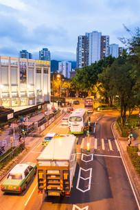 香港上水城市夜景