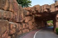 南宁五象湖公园石头通道