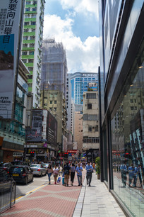 香港旺角城市风光一角