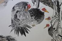 动物水墨画
