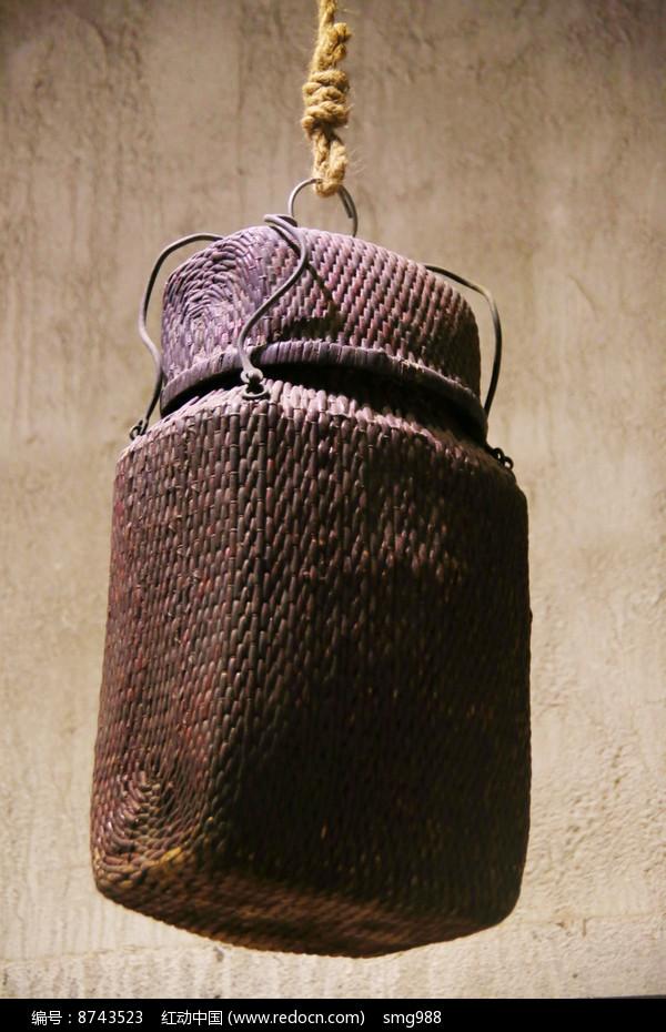 老物件藤编吊篓图片