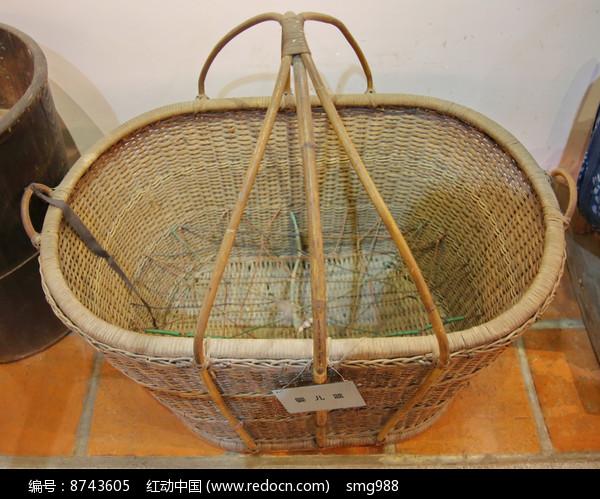 老物件婴儿篮