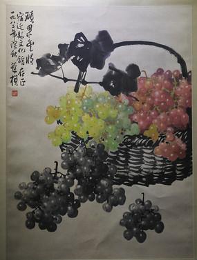 葡萄水墨画