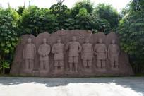 五象湖公园百色起义雕像