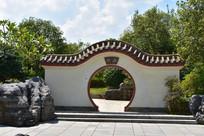 五象湖公园古典建筑门