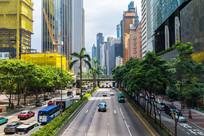 香港告士打道道路风景