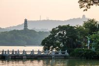 黄昏的惠州西湖风光