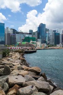 香港湾仔海滨建筑风光