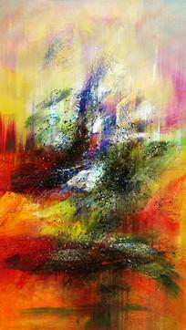 走廊过道抽象油画壁画