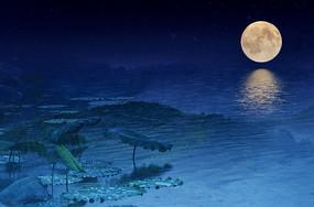 中秋月亮风景