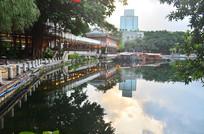 湖泊公园古典亭子建筑图片