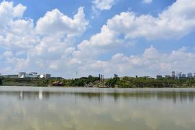 五象湖公园湖边风光