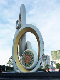 桂林万达广场上的雕塑