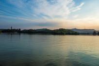 惠州西湖的夕阳晚霞