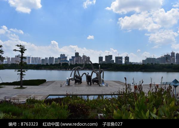 鸟瞰五象湖公园欢乐五象图片