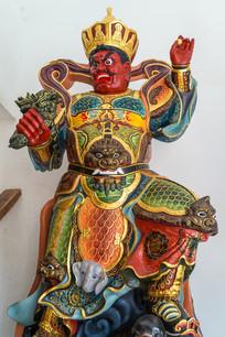 西方广目天王塑像