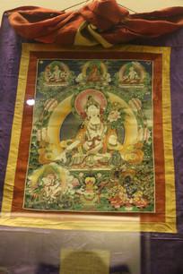 藏传佛教观世音唐卡画