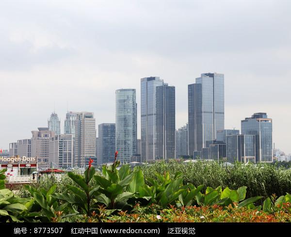 高楼林立的城市建筑图片
