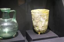 罗马尼亚玻璃水罐与玉酒杯