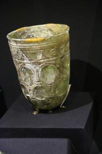 罗马尼亚雕花玉酒杯