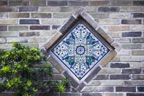 青砖墙花窗