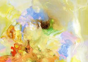 流彩抽象油画