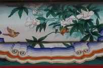 房梁彩绘绘画白玉兰