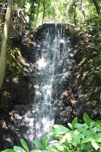 杭州九溪十八涧瀑布水流