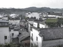 黑白徽州古村落