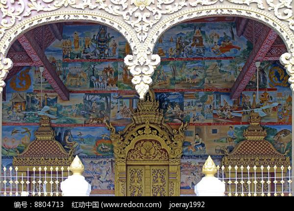 老挝民族风情壁画图片