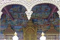 老挝民族风情壁画