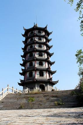 唐李庵古建筑杏林塔