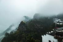云雾弥漫的齐云山