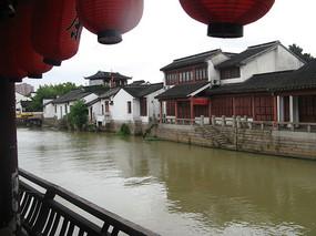 大运河畔的茶社与古建筑